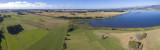 partial panorama of Lake Horowhenua