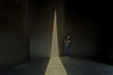 Inside Richard Serra's Vortex 2002 - so dark inside didn't realise I had company until just now
