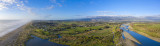 3 August 2019 - took the Mavic to the Otaki river mouth - 4 photos stitched to make this
