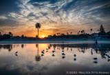 Sunrise at Moonlight Beach