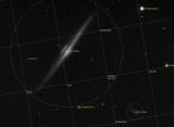 NGC 4565, anotada