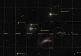 NGC 3190, con sus compañeras. Galaxias en Leo. Anotadfa