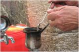 Making Turkish coffee in the Arab Quarter