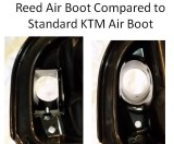 EXCF Reed Air Boot Compared to KTM Standard XCF,SXF