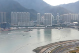 LONG flights in business class on Cathay Pacific Dulles to Hong Kong; HK to Bali. Here's part of HK from plane window