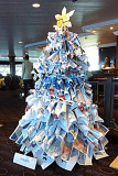 Pursers' tree made from the daily Currents paper