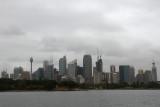 Usually sunny Sydney was overcast & smoky due to the bushfires.