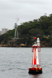 Passed HMAS Sydney memorial, Bradley Lighthouse & a buoy