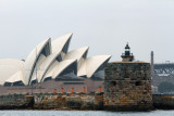 Sydney Opera House with Fort Denison