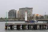 We're back in Melbourne. Hello range light at Station Pier.