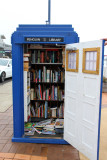 Then it was down the coast to the cute town of Penguin.  Stuart pointed out the free library there.