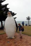 Ruth & the big penguin in Penguin