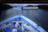 In port, yay!  In an inside cabin the webcam on TV is your friend. Turned it on to see the Interisland ferry leaving