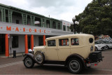 Antique car & art deco building