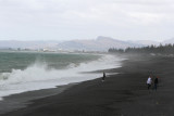 Surf was rough. Cape Kidnappers was in background.  Later I would be there.