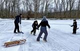 Ice Skating and Sledding at the Pond 2021