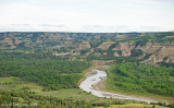 The Little Missouri River passing through Theodore Roosevelt National Park