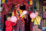 Clown Cees op kinderkermis in Everdingen