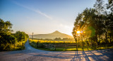 View of SUgarloaf Mountain Kindlestown Wood, Wicklow, Ireland