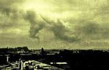 Nuage issu de l'usine à gaz d'Artix, années 1970