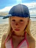 Maïka sur la plage de Vieux Boucau