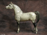 Breyer Proud Arabian stallion - dapple grey 1970s to 1980s