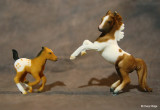 Breyer Stablemate G2 flocked rearing Arab and Running foal