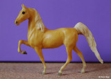 Breyer Little Bits Paddock Pal Saddle Club Saddlebred - palomino