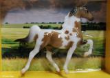 Breyer Stablemate G1 Saddlebred - bay pinto