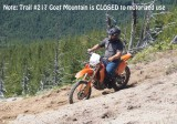 This trail is NOT open to motorized use