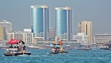 Deira s cosmopolitan skyline as seen from across the Creek in Bur Dubai.