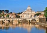 St. Peter's Basilica and Tiber.