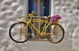 The yellow bicycle, somewhere in Naxos.