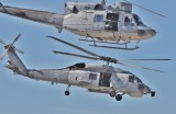 Sikorsky S70B Aegean Hawk (Hellenic navy)  -  Agusta ab212 (Hellenic Navy) in joint exercise.