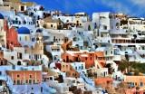 View of Oia, Santorini.
