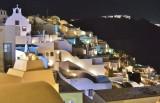 Night view of Oia.