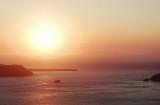 Sunset view to the Aegean sea, Santorini.