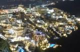 Night view of Fira.