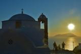 Sunset at Plaka, Milos.