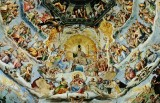 The Last Judgement (detail) under the dome of Duomo.