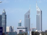 The Emirates Towers complex boasts the tallest building in the Middle East and Europe.