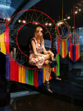 Louis Vuitton display with lifelike mannequin