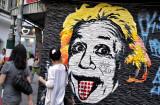 Mural art of Albert Einstein