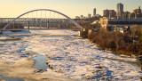 Spring Break Up on the North Saskatchewan River
