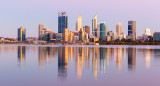 Perth and the Swan River at Sunrise, 10th January 2019