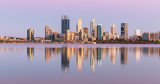 Perth and the Swan River at Sunrise, 14th January 2019