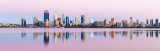 Perth and the Swan River at Sunrise, 1st January 2019