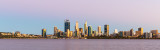 Perth and the Swan River at Sunrise, 9th February 2019