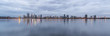 Perth and the Swan River at Sunrise, 7th March 2019