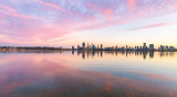 Perth and the Swan River at Sunrise, 27th March 2019